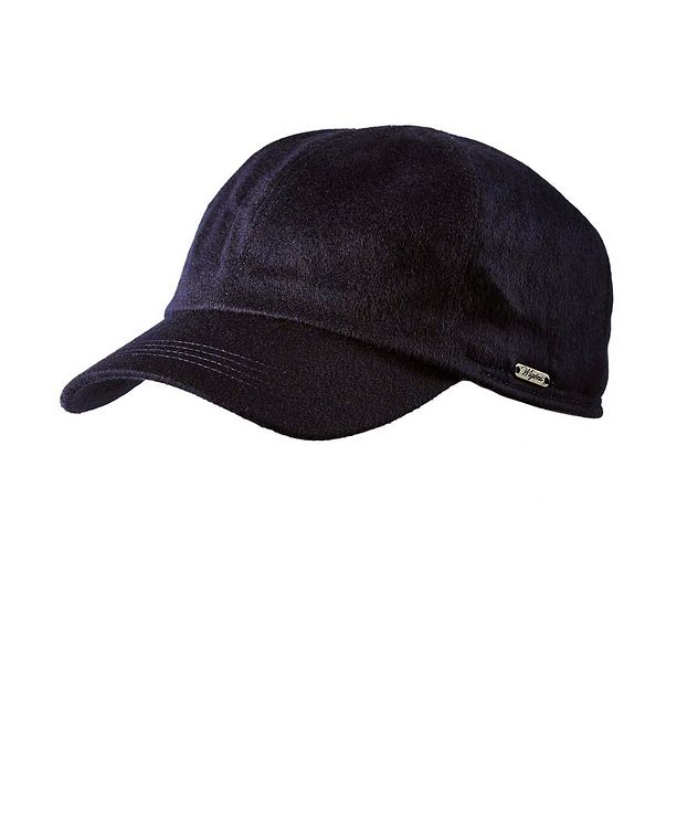 Cashmere Earflap Baseball Cap picture 1
