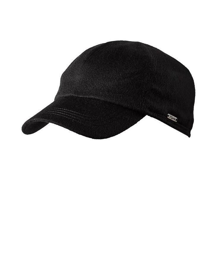 Cashmere Earflap Baseball Cap image 1