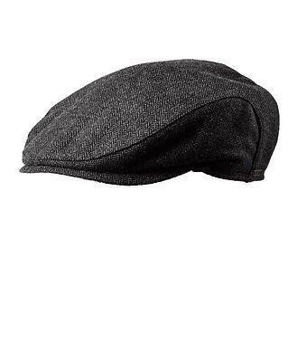 Wigens Ivy Slim Herringbone Wool-Blend Driving Cap