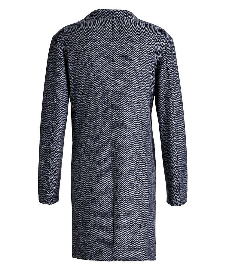 Wool Herringbone Unstructured Top Coat image 1