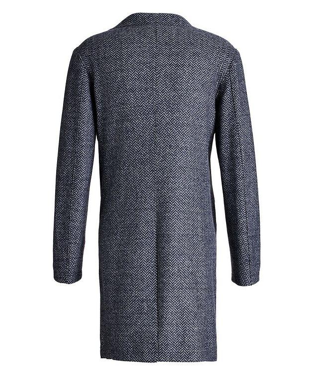 Wool Herringbone Unstructured Top Coat picture 2