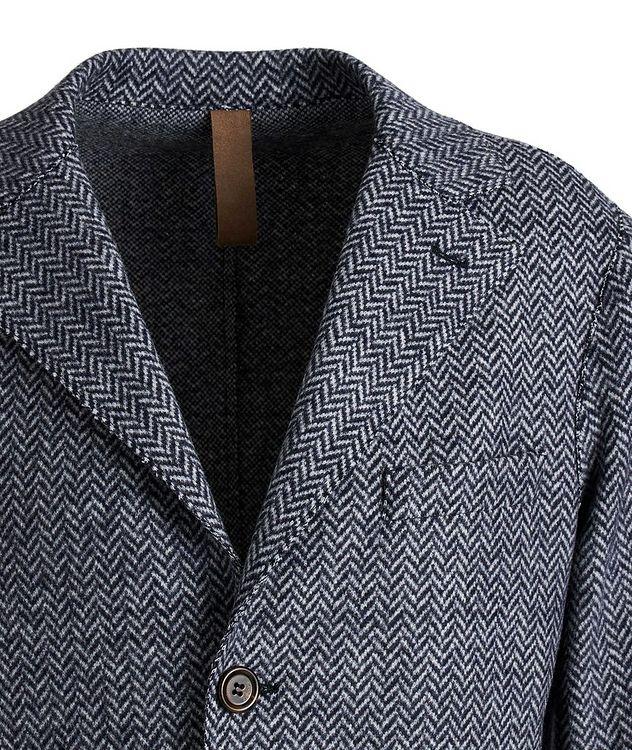 Wool Herringbone Unstructured Top Coat picture 3