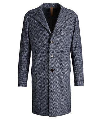Eleventy Wool Herringbone Unstructured Top Coat