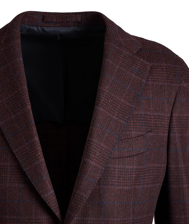 Slim Fit Glen Check Wool-Cashere Sports Jacket picture 2