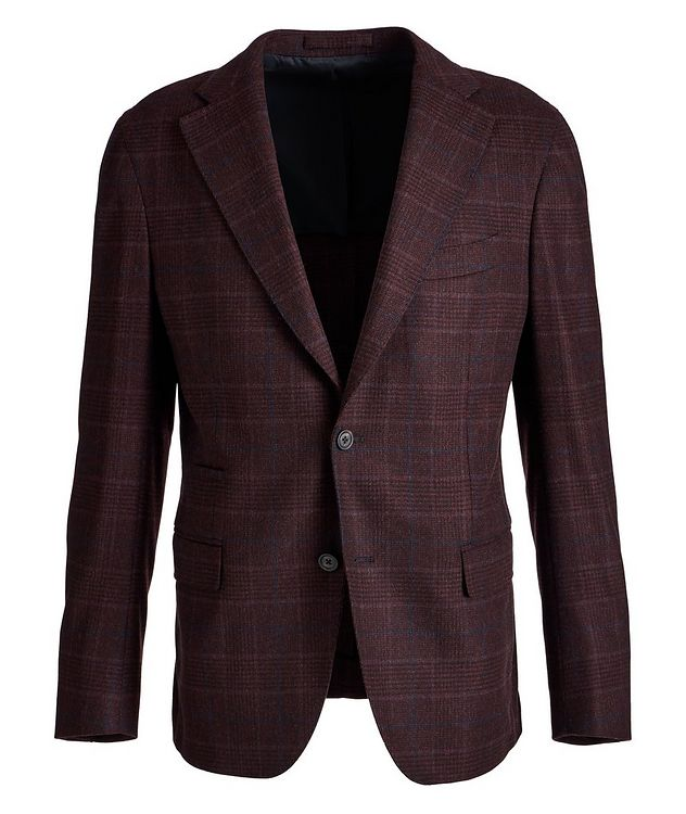 Slim Fit Glen Check Wool-Cashere Sports Jacket picture 1