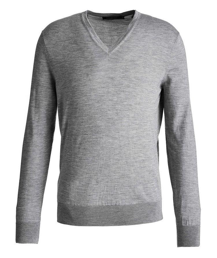 V-Neck Cashmere-Silk Sweater image 0