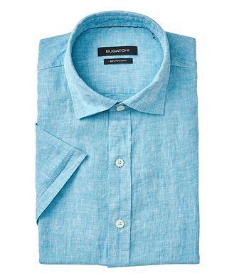 Bugatchi Short Sleeve Linen Sport Shirt