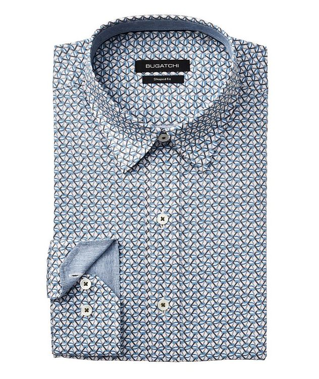 Printed Stretch-Cotton Shirt picture 1