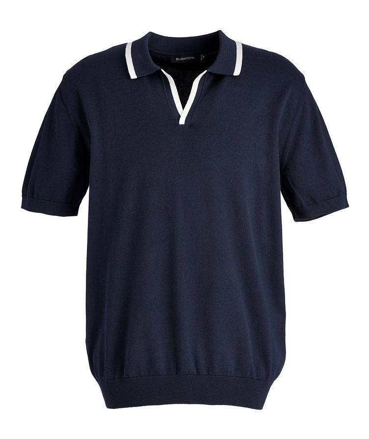 Knit Cotton-Blend Polo image 0