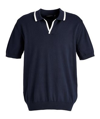 Bugatchi Knit Cotton-Blend Polo