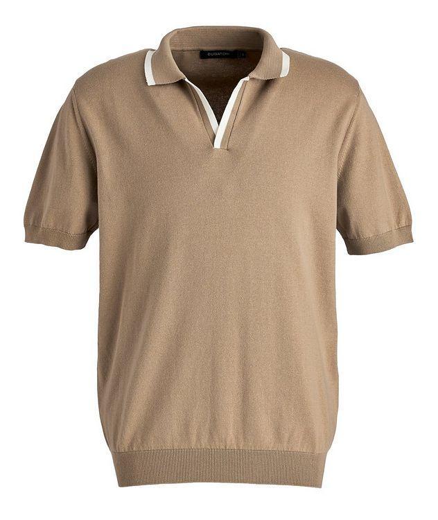 Knit Cotton-Blend Polo picture 1