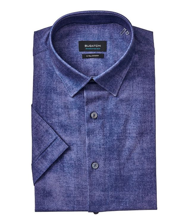 Printed Stretch Cotton Performance Shirt picture 1