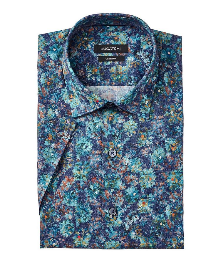 Short-Sleeve Superfine Stretch-Cotton Shirt image 0