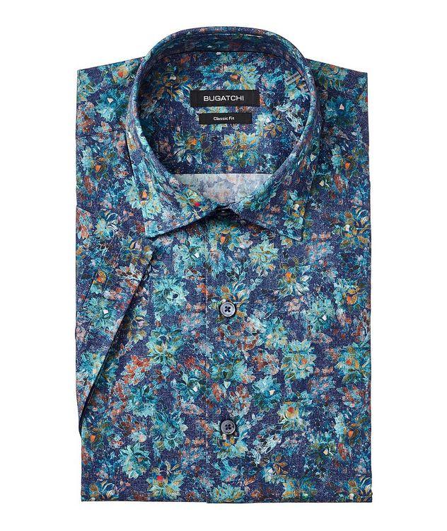 Short-Sleeve Superfine Stretch-Cotton Shirt picture 1