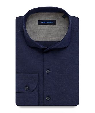 Patrick Assaraf Contemporary-Fit Woven Cotton Shirt