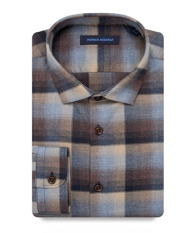 Contemporary-Fit Plaid Pima Cotton Shirt picture 1