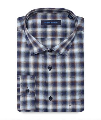 Patrick Assaraf Contemporary-Fit Plaid Pima Cotton Shirt