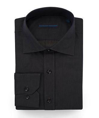 Patrick Assaraf Contemporary-Fit Printed Cotton Shirt