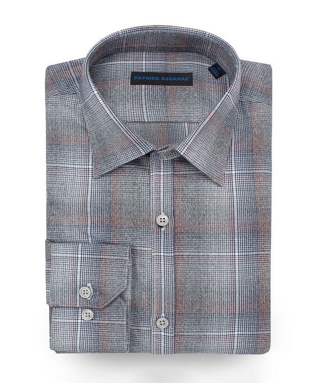 Contemporary-Fit Plaid Cotton Shirt picture 1