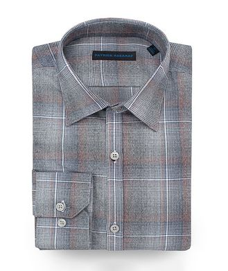 Patrick Assaraf Contemporary-Fit Plaid Cotton Shirt