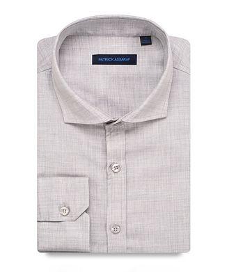 Patrick Assaraf Contemporary-Fit Printed Wool Shirt