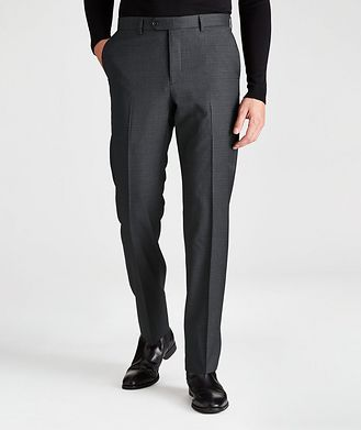 Harry Rosen Contemporary-Fit Checkered Dress Pants