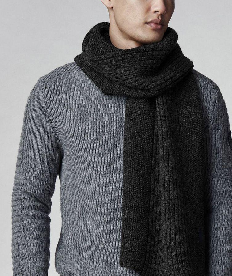 Écharpe en tricot de laine, collection Robert Mackie image 1