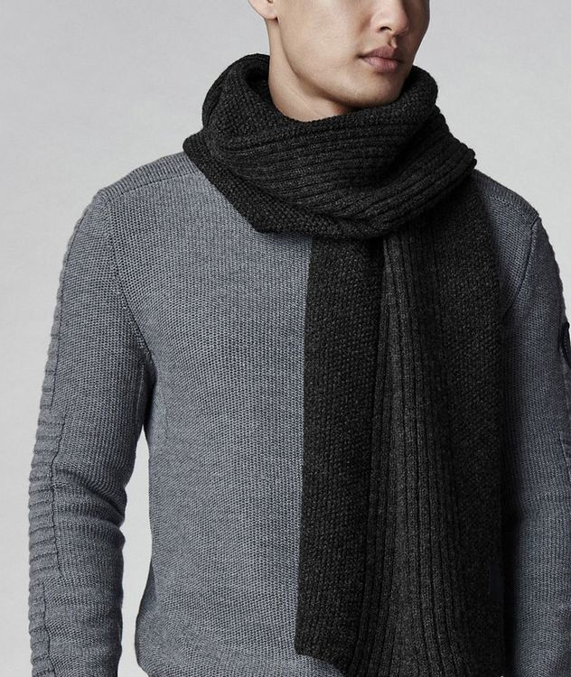 Mackie Textured Knit Wool Scarf picture 2