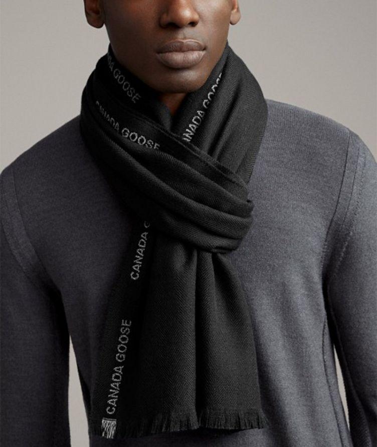Herringbone Merino Wool Scarf image 1