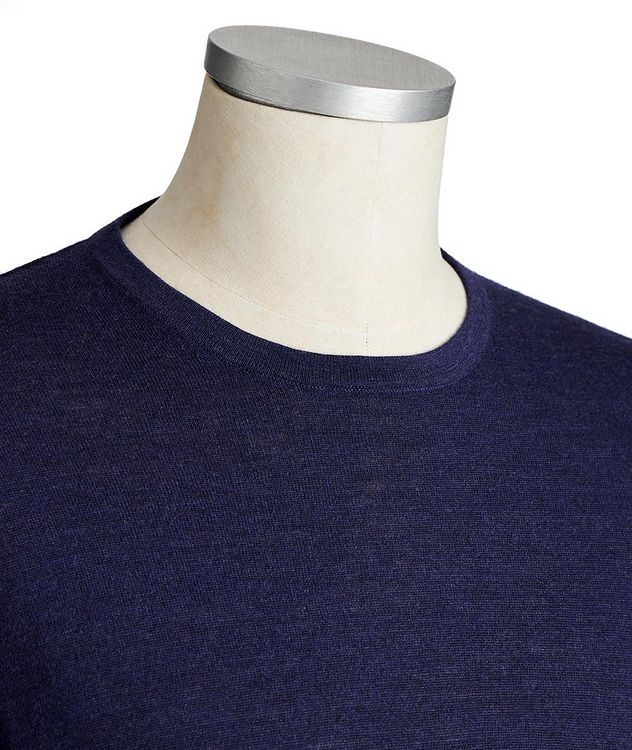 Long-Sleeve Extrafine Merino Sweater picture 2