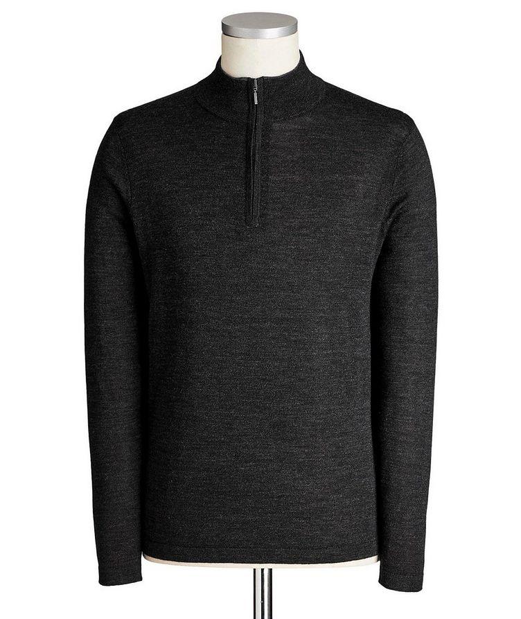 Quarter-Zip Extrafine Merino Wool Sweater image 0