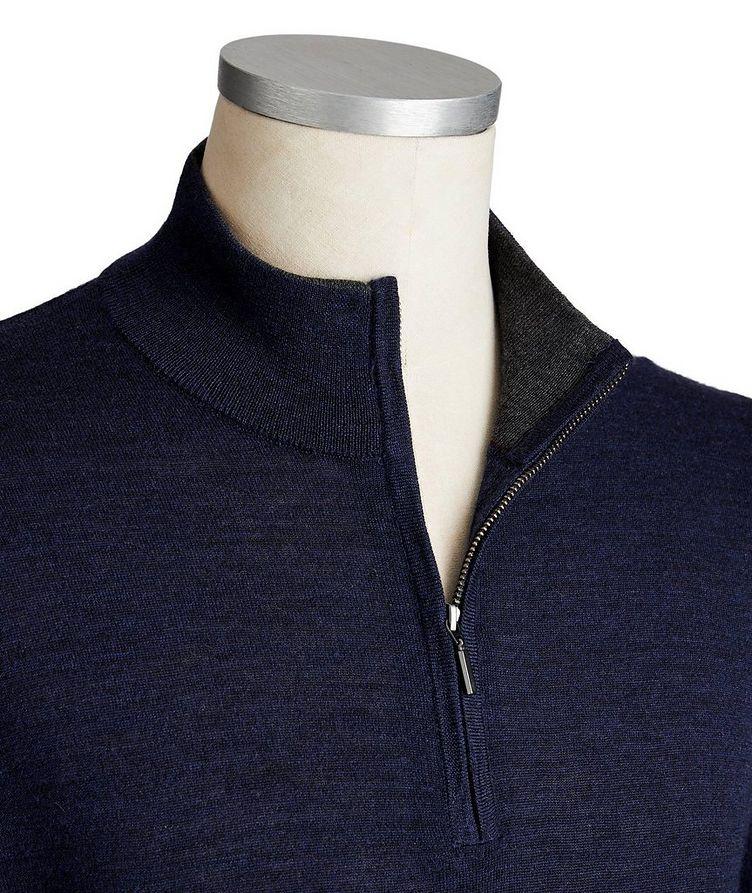 Extra-Fine Merino Wool Half-Zip Sweater image 1