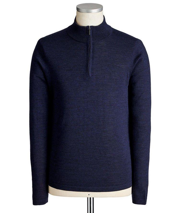 Extra-Fine Merino Wool Half-Zip Sweater image 0