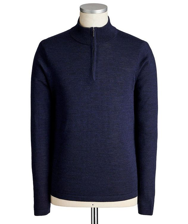 Extra-Fine Merino Wool Half-Zip Sweater picture 1