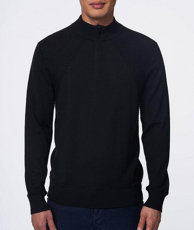 Quarter-Zip Extrafine Merino Wool Sweater picture 2