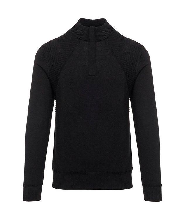 Quarter-Zip Extrafine Merino Wool Sweater picture 1