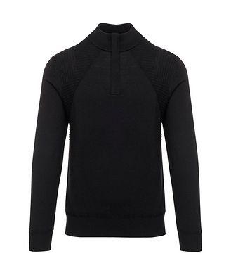 Patrick Assaraf Quarter-Zip Extrafine Merino Wool Sweater