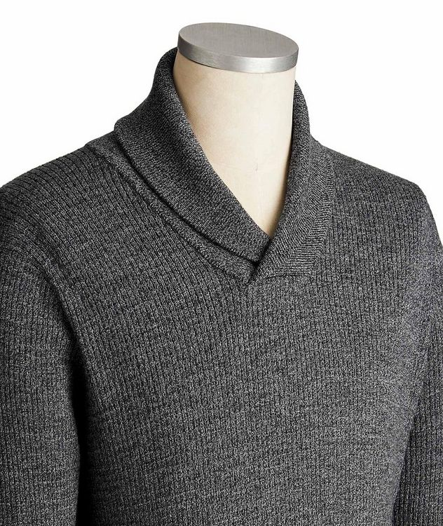 Extra-Fine Merino Wool Shawl Collar Sweater picture 2