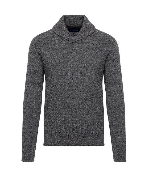 Extra-Fine Merino Wool Shawl Collar Sweater picture 1