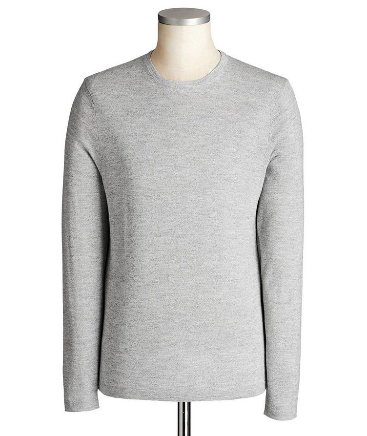 Long-Sleeve Merino-Cotton Blend T-Shirt image 0