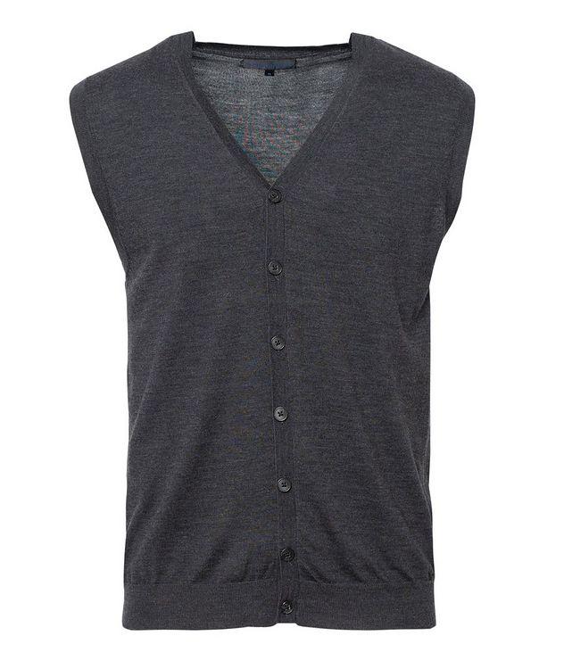 Extra-Fine Merino Wool Vest picture 1