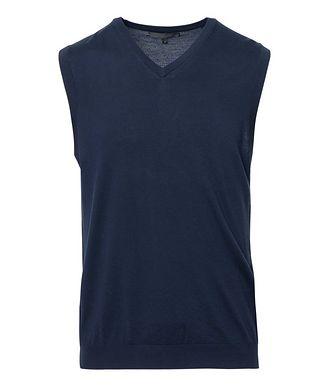 Patrick Assaraf Pullover Extra-Fine Merino Wool Vest