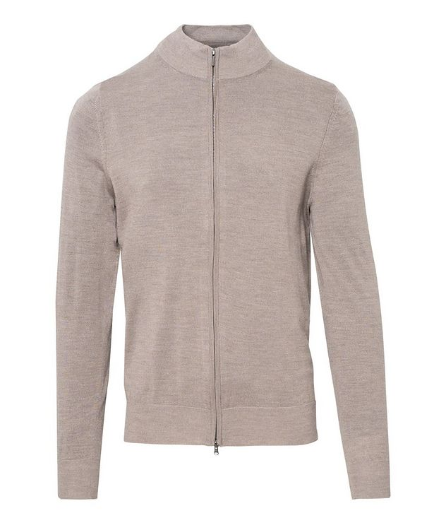Zip-Up Extra-Fine Merino Sweater picture 1
