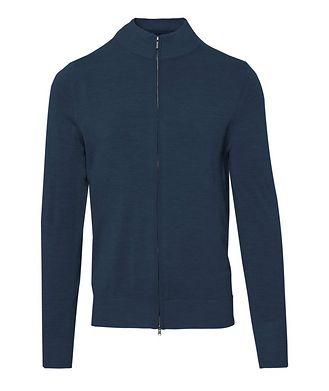 Patrick Assaraf Zip-Up Extra-Fine Merino Sweater