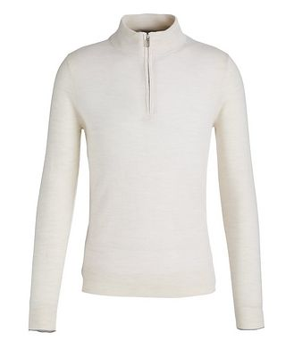 Patrick Assaraf Half-Zip Merino Wool Sweater