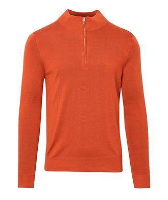 Patrick Assaraf Half-Zip Merino Wool Sweater