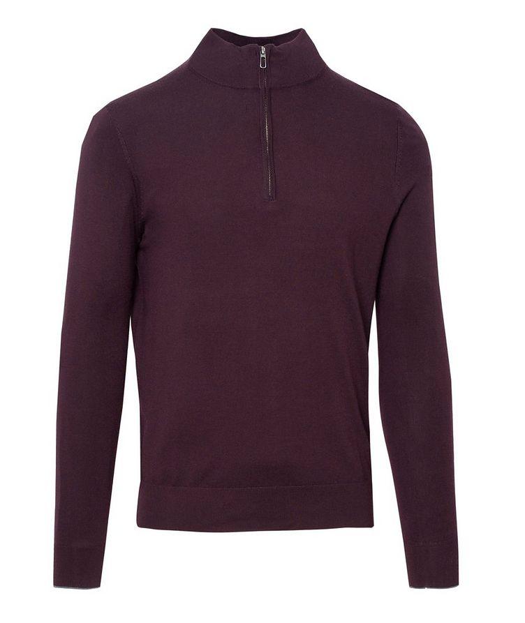 Half-Zip Merino Wool Sweater image 0