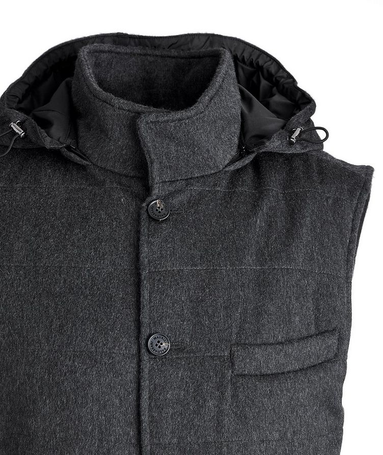 Hooded Cashmere Vest image 1