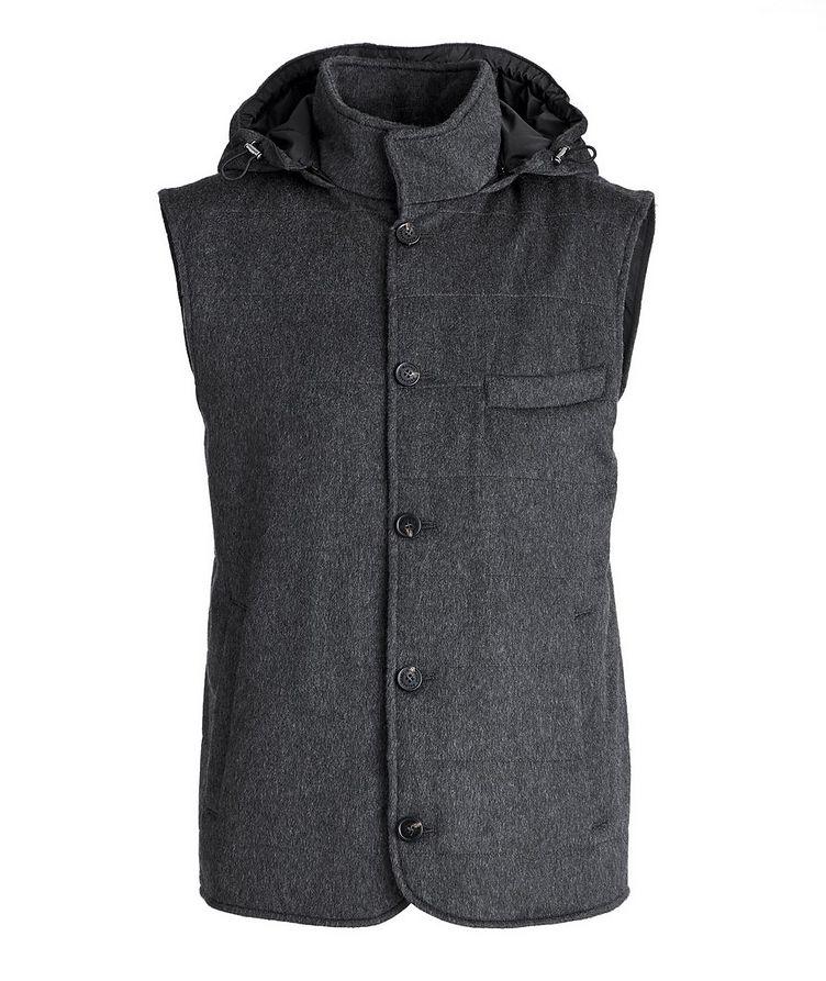 Hooded Cashmere Vest image 0