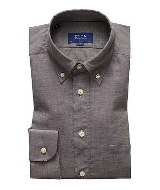 Eton Slim Fit Soft Flannel Shirt